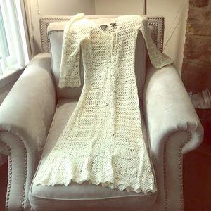 Moda International crocheted dress.